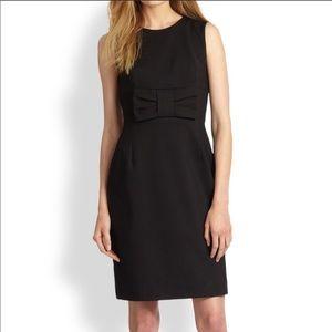 Kate Spade Creme de la Creme black crepe Bow Little Black Dress 6